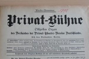 Privat-Bühne  Erstes Verbandsorgan des BDAT / BDAT-Archiv